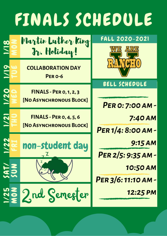 Finals Schedule for week of 1/18-1/22 Featured Photo