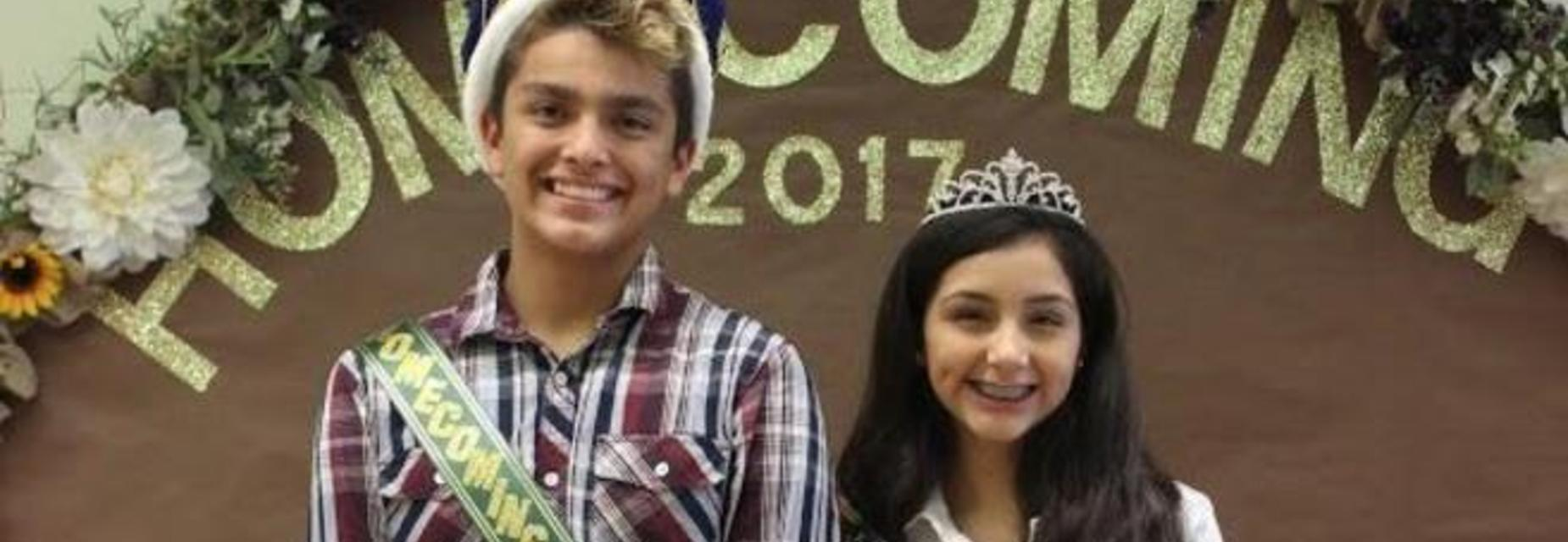 2017 - 2018 AMJH Homecoming King and Queen