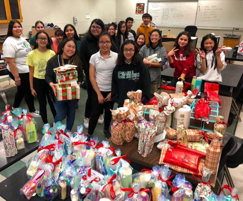 CCA ARK Club organized over 700 items for the toiletry drive.