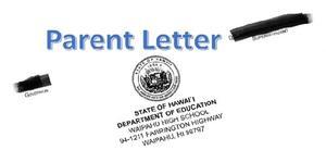 Parent Letter home
