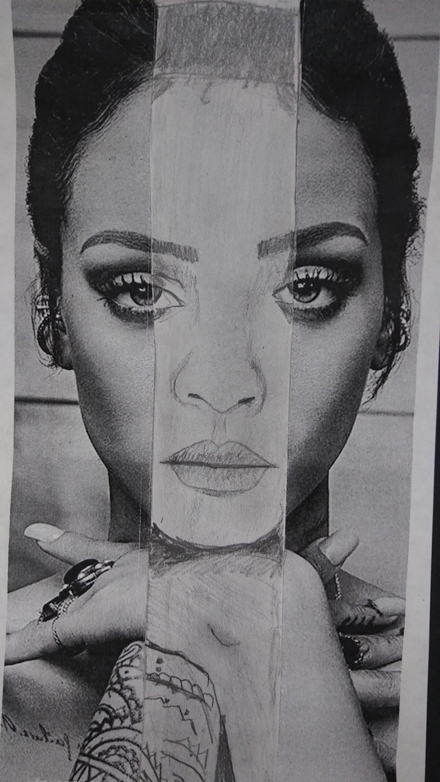 Landmark Student Portrait of Rihanna