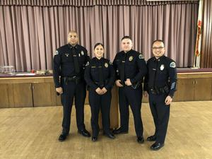 Ontario Elks Lodge recognized Officer Cynthia Jimenez as officer-of-the-year! Ofc. Jimenez grew up in Pomona & attended Pomona High School, Marshall Middle School, Graduated from Ganesha High School. She earned her bachelor's degree from Cal Poly Pomona and is now a PomonaPD Officer since 2016!