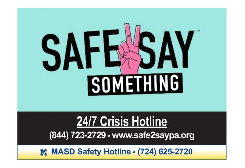 Safe2Say Something Logo