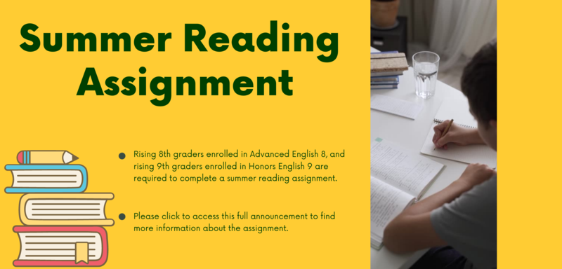 2021 Summer Reading Assignments Featured Photo