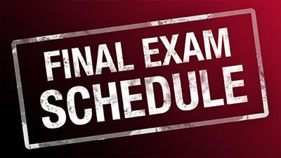 Final Exam Schedule Featured Photo