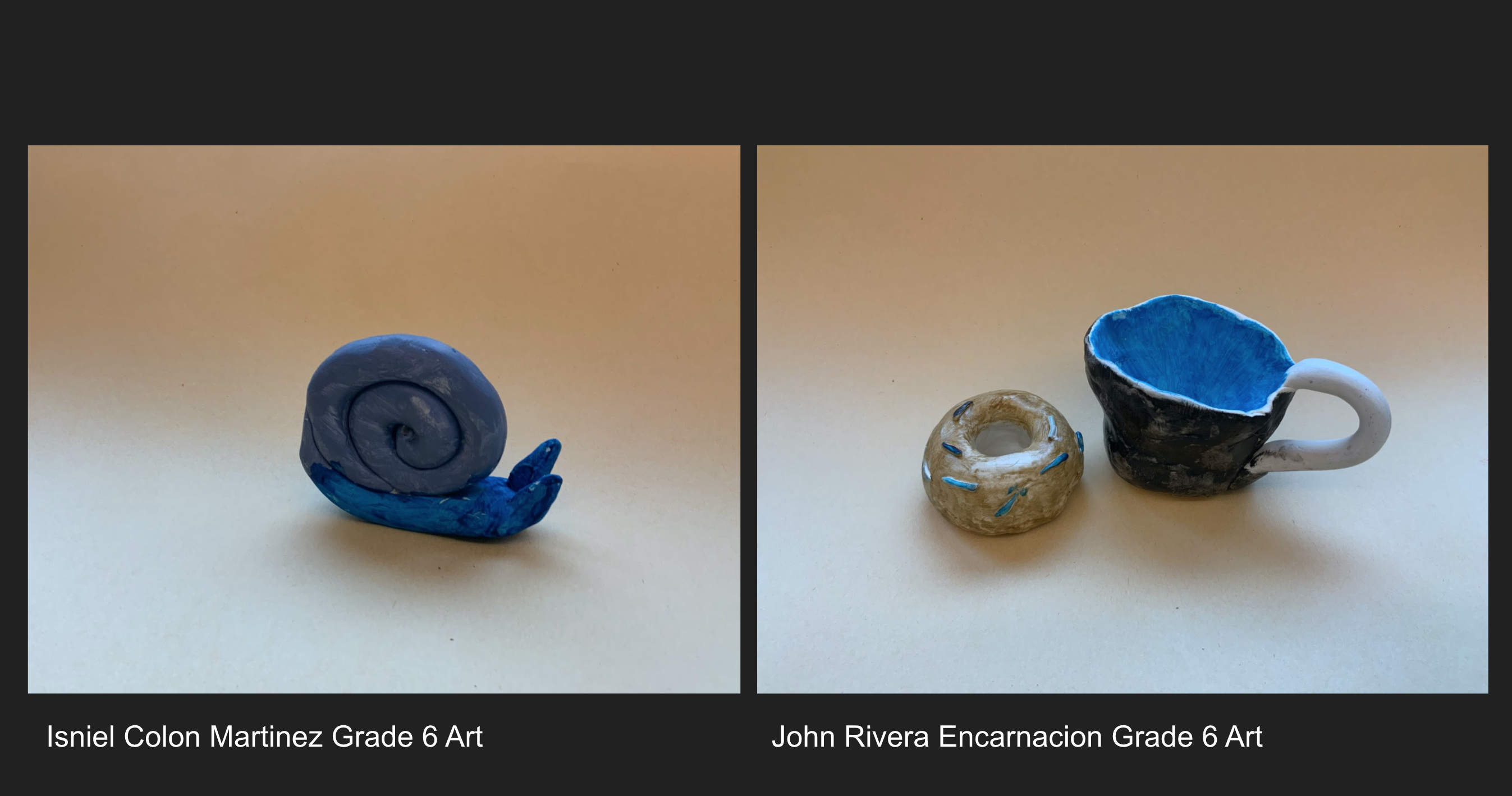 Pottery made by Southbridge Middle School students