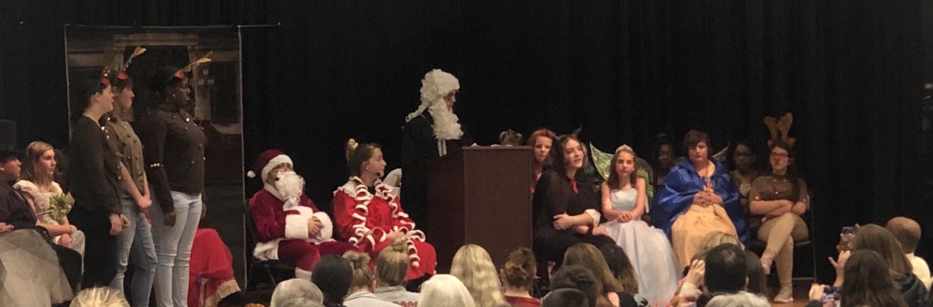 Drama Club Performs During Winter Fine Arts Program