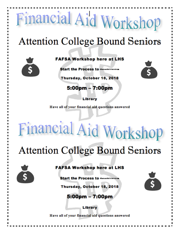 FAFSA Workshop - OCt. 18, 2018 in library
