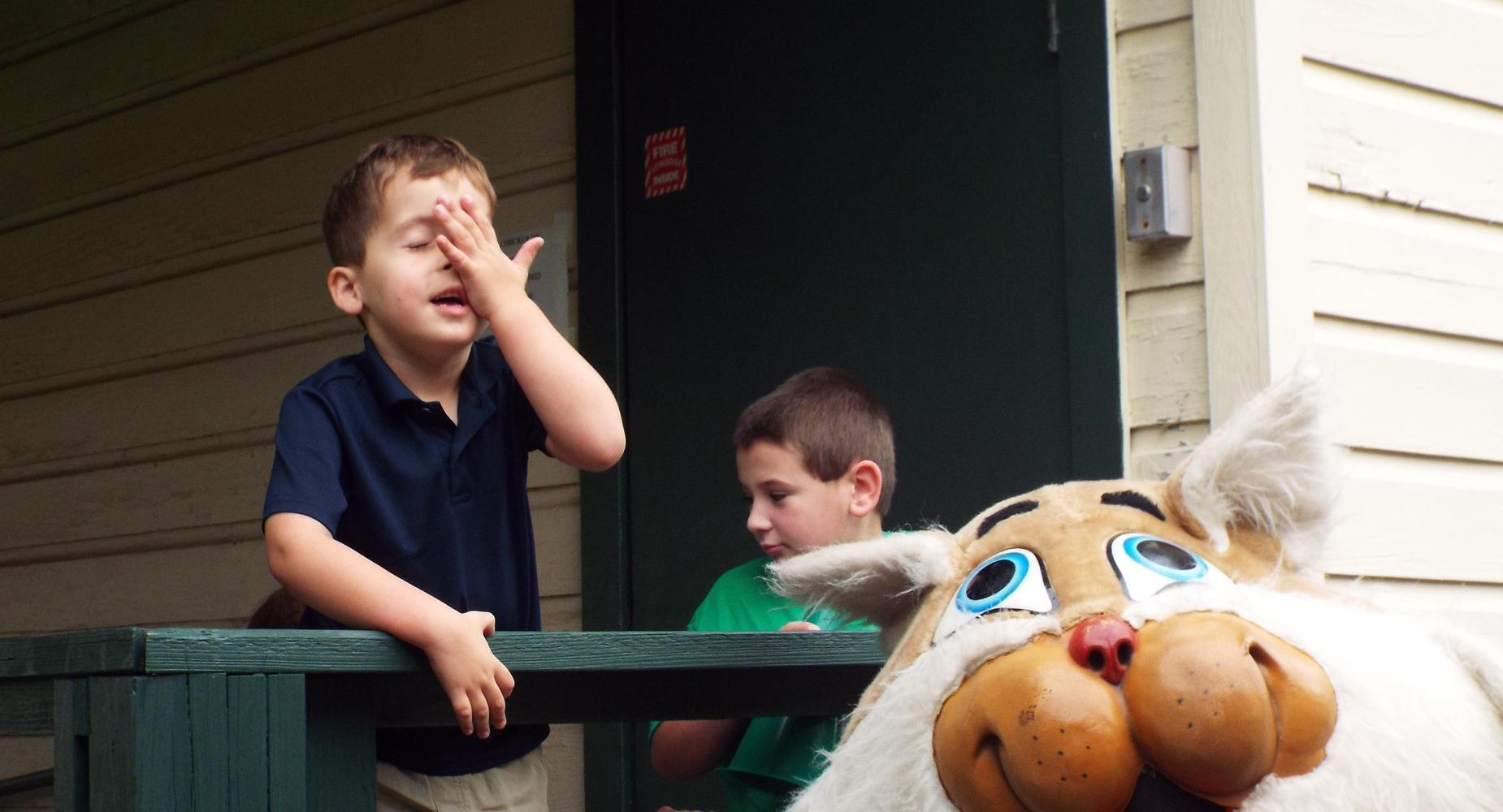 Bobcat Mascot is funny!