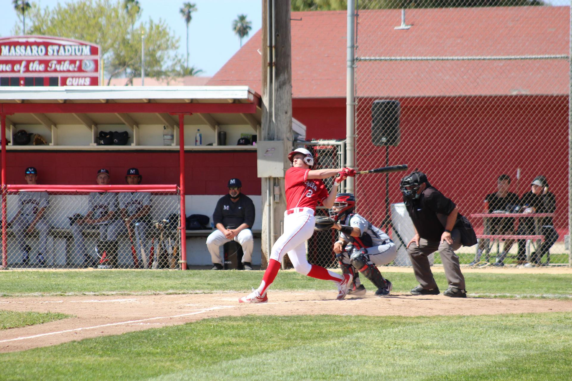 boys playing baseball against San Joaquin Memorial