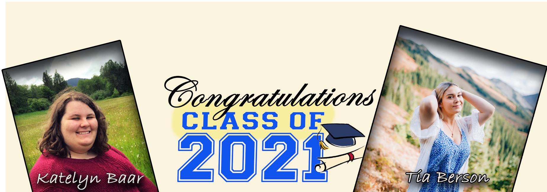 Class of 2021: K. Baar and T. Berson