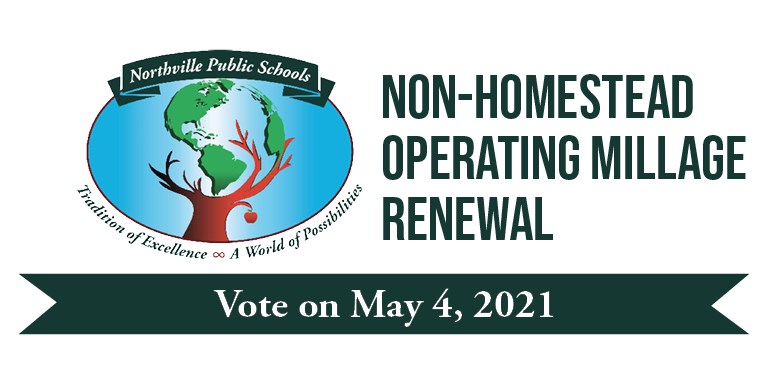 Northville Public Schools Non-Homestead Operating Millage Renewal; Vote on May 4, 2021