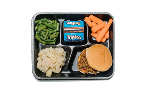 Lunch tray with food