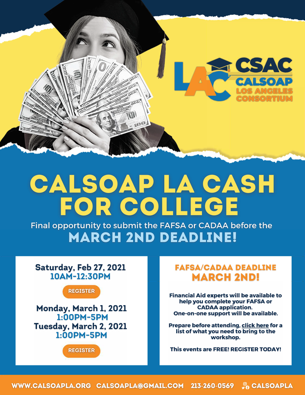 CAL SOAP FINANCIAL AID WORKSHOPS Featured Photo