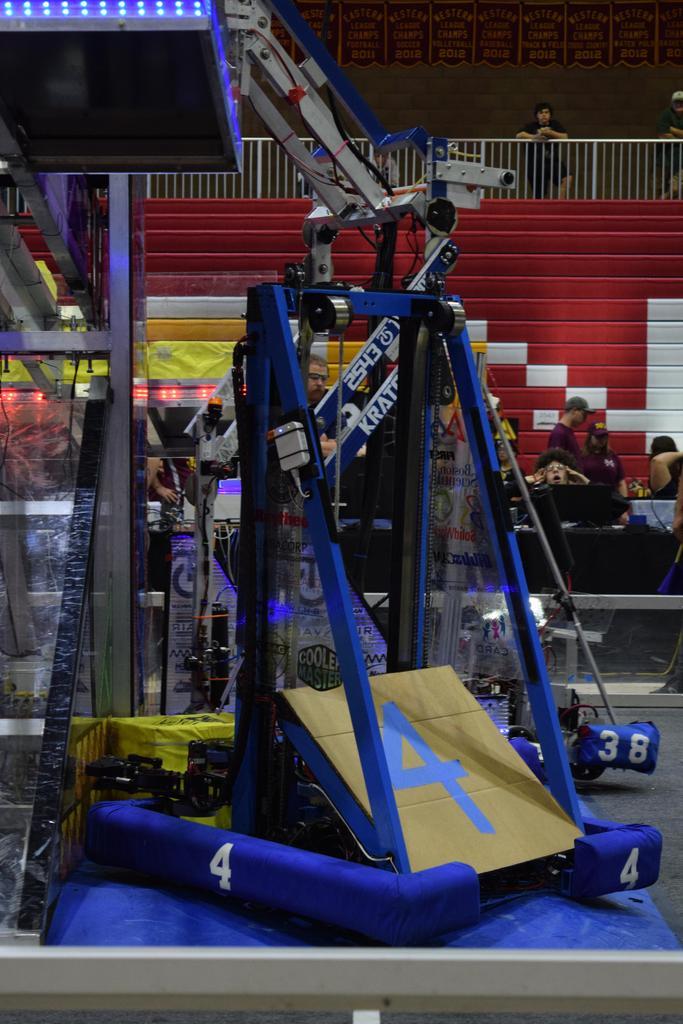 Main robot on platform end of match