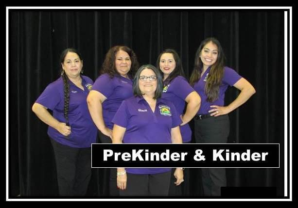 Prekinder and kindergarten staff