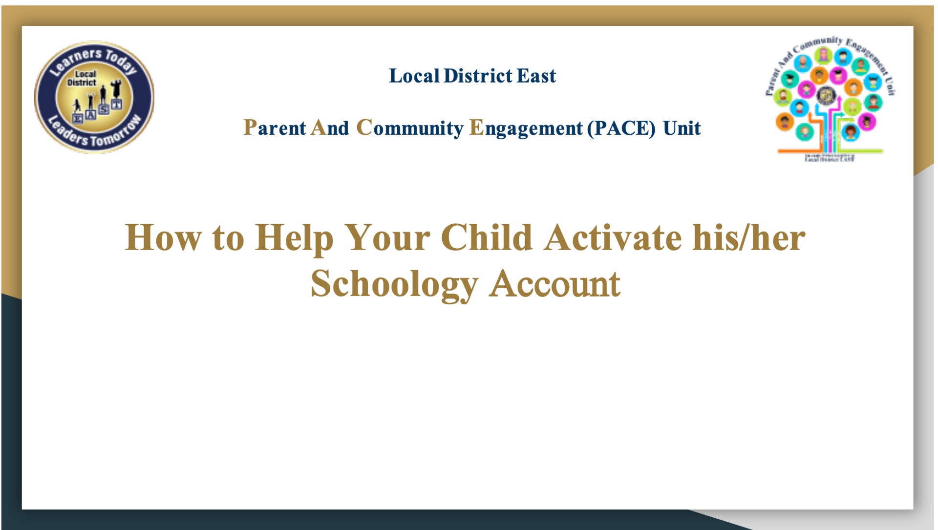 How to Help Your Child Activate his/her Schoology Account