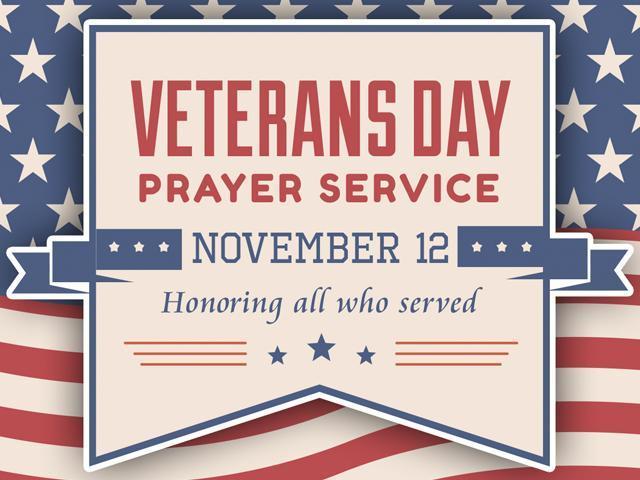 Veteran's Day Prayer Service Featured Photo