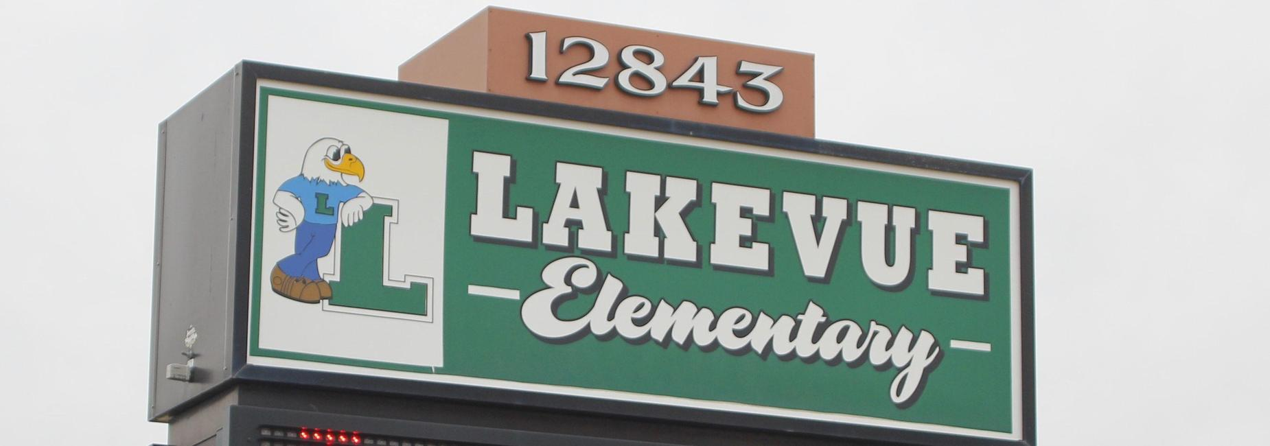 Lakevue sign