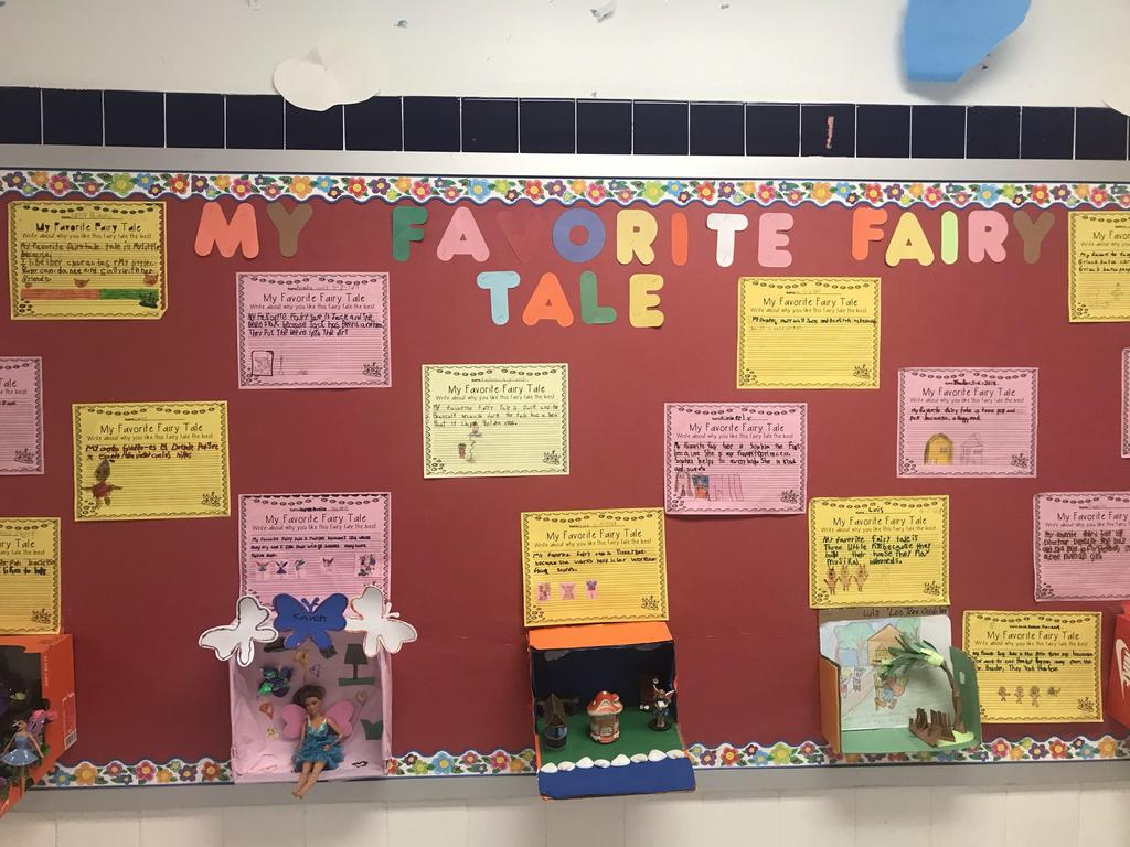 My Favorite fairy tale bulletin board display