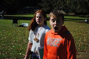 Outdoor school students