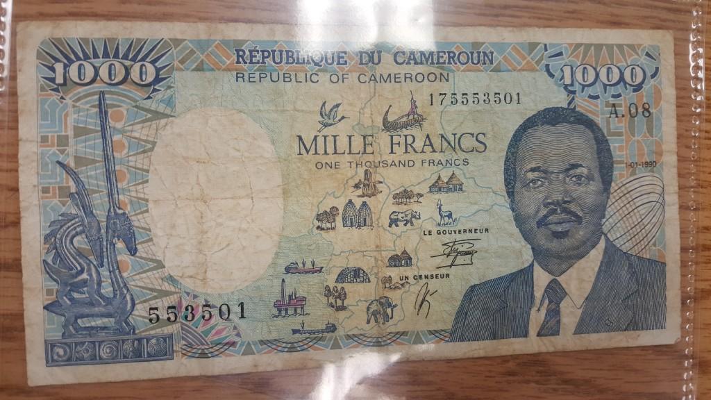 Africa's 1000 dollar bill