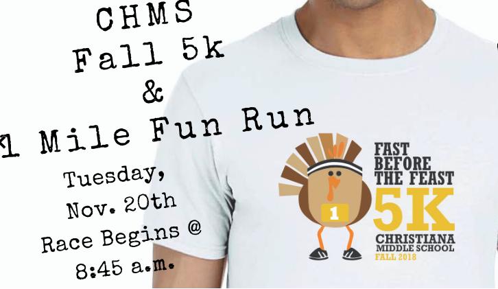 CHMS Fall 5k & 1 Mile Fun Run Thumbnail Image