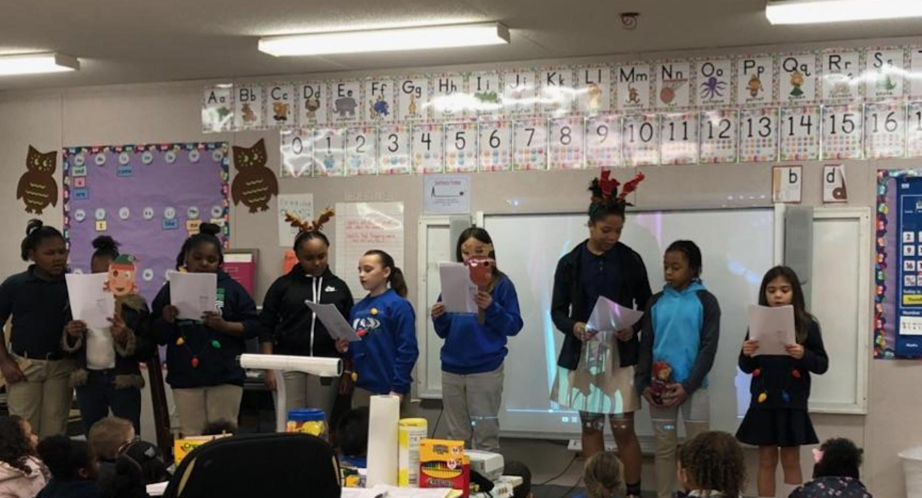 Fourth Grade Students Spread Joy by Singing Christmas Carols!