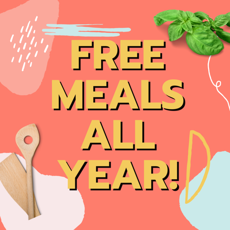 free meals all year graphic