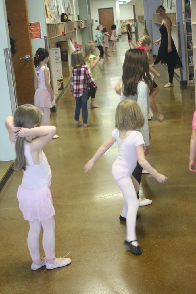 Elementary students have a blast at the new after-school Ballet Club.