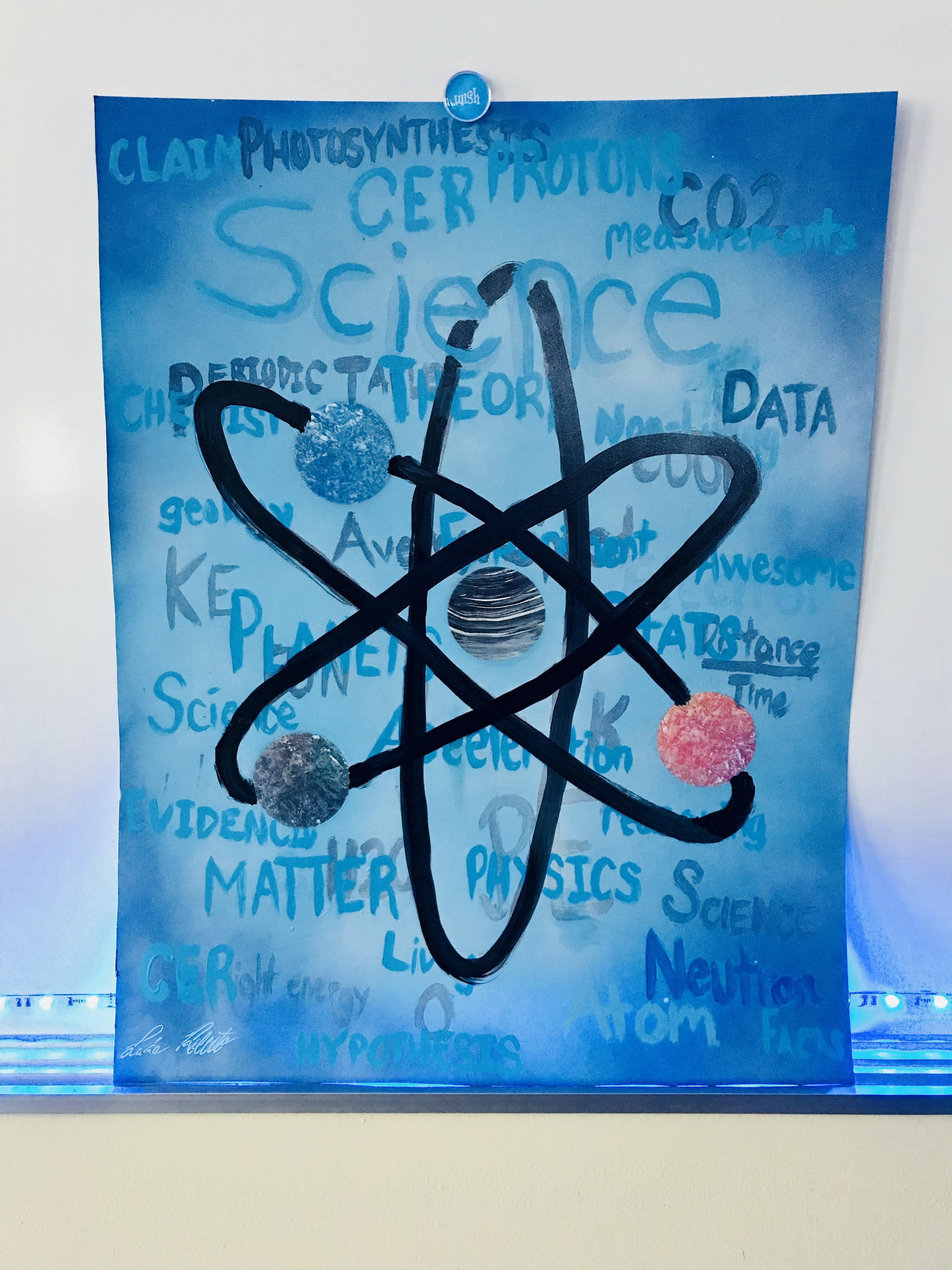 Student Spray Paint Genius Hour Artwork
