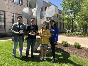 UCHS students who won the William Paterson Foreign Language Poetry Contest