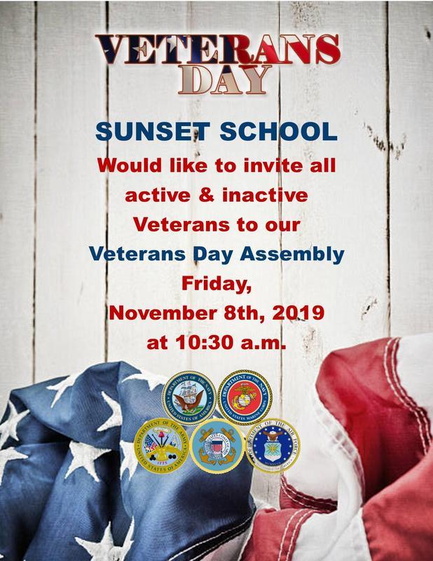 Sunset's Veteran's Day Assembly