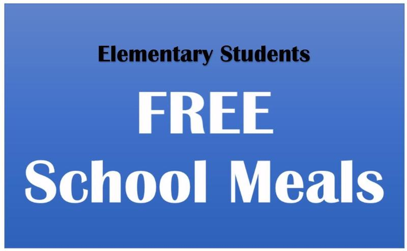 Free Breakfast and Lunch for Elementary Students Thumbnail Image
