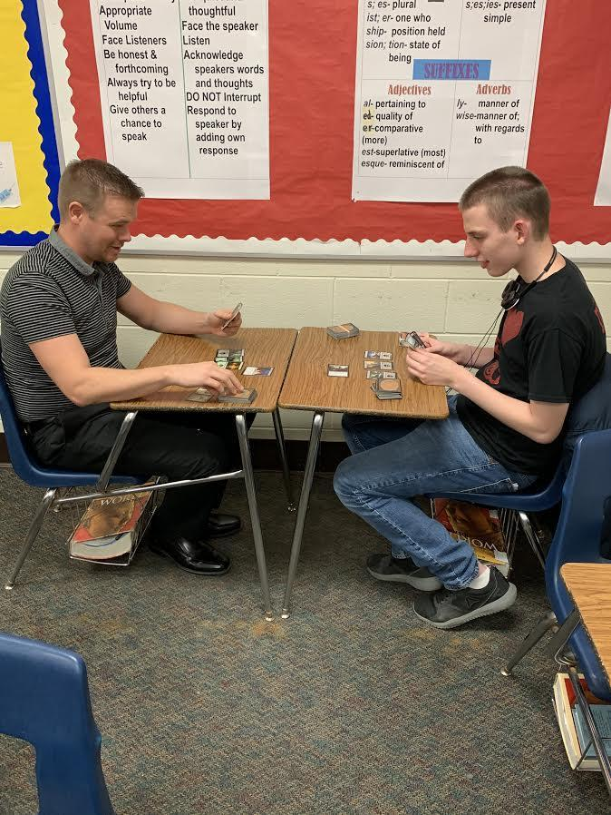 SCHS Students enjoying a game during a recent Game Club meeting