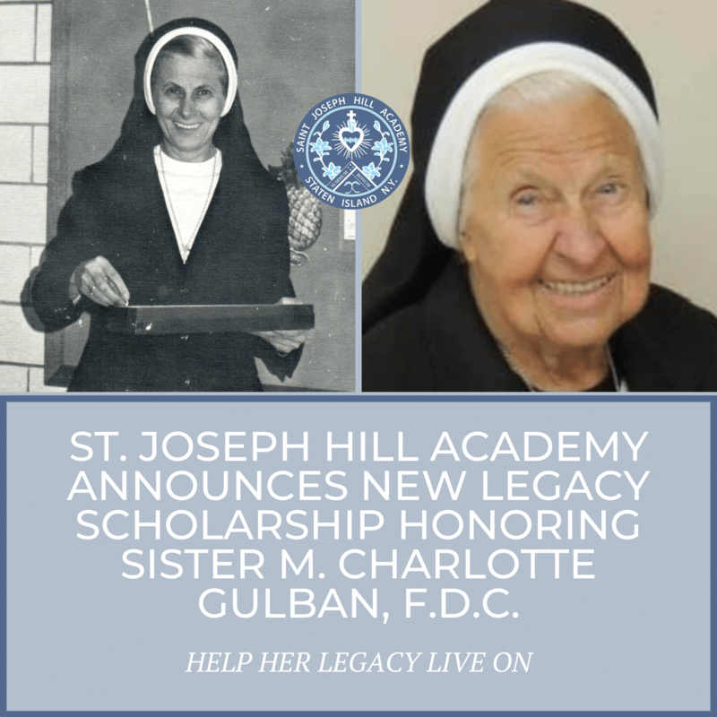 NEW LEGACY SCHOLARSHIP HONORS SISTER M. CHARLOTTE GULBAN, F.D.C. Featured Photo