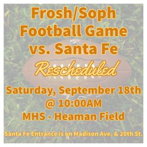 frosh soph game rescheduled