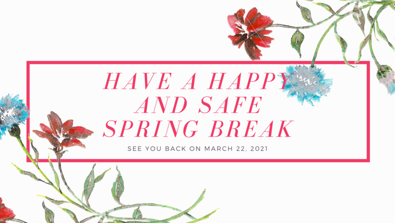 Happy and safe spring break image
