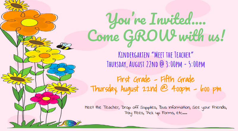 Meet The Teacher August 22nd