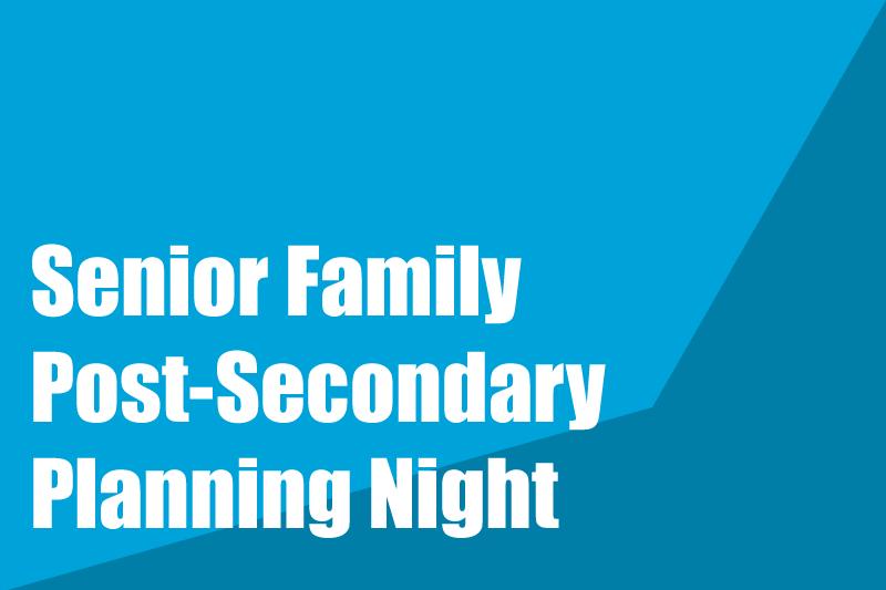 Image Senior Family Post-Secondary Night