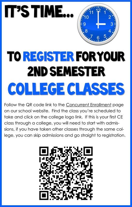 Concurrent enrollment QR code