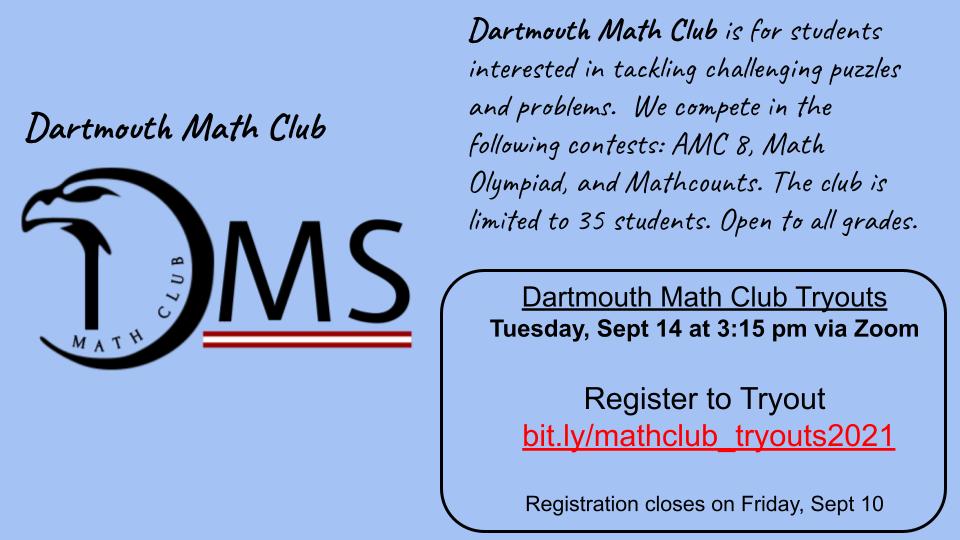 math club tryout