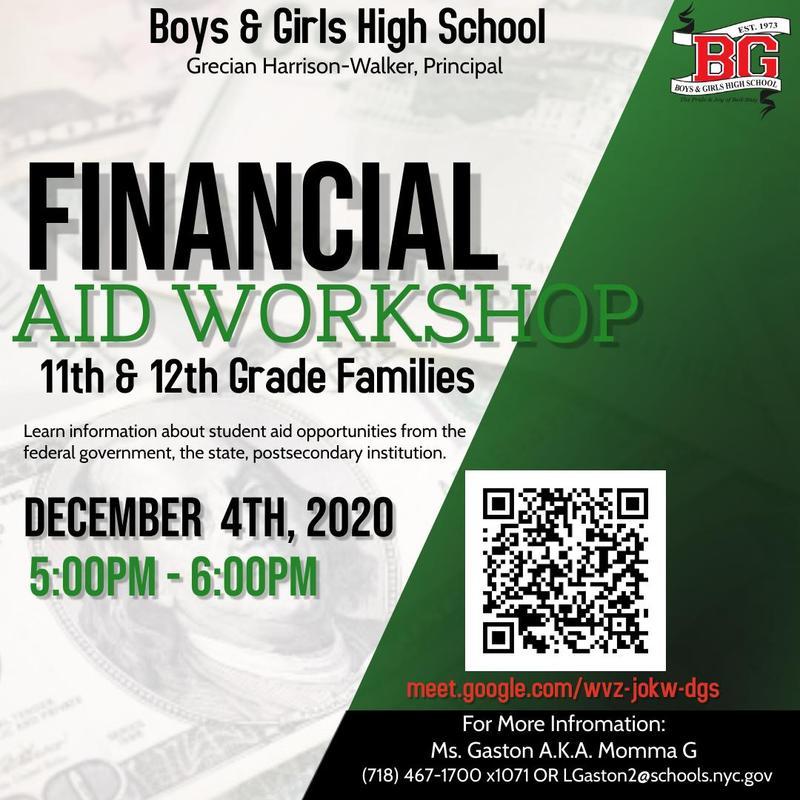 BGHS Financial Aid Workshop