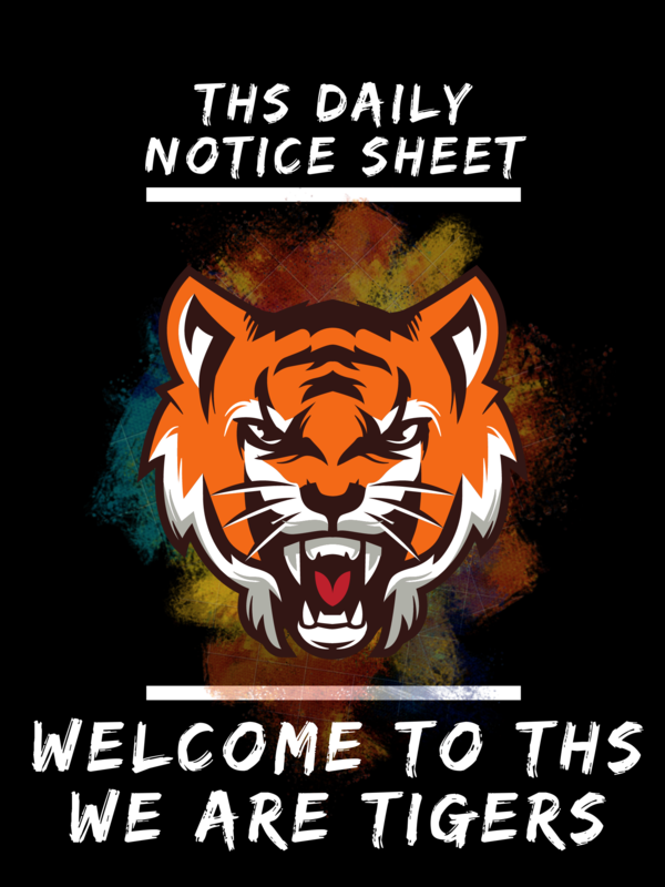 THS Daily Notice Sheet Photo