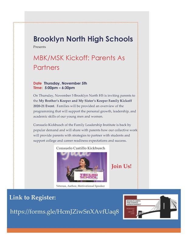 Brooklyn North High Schools MBK/MSK Kickoff: Parents as Partners