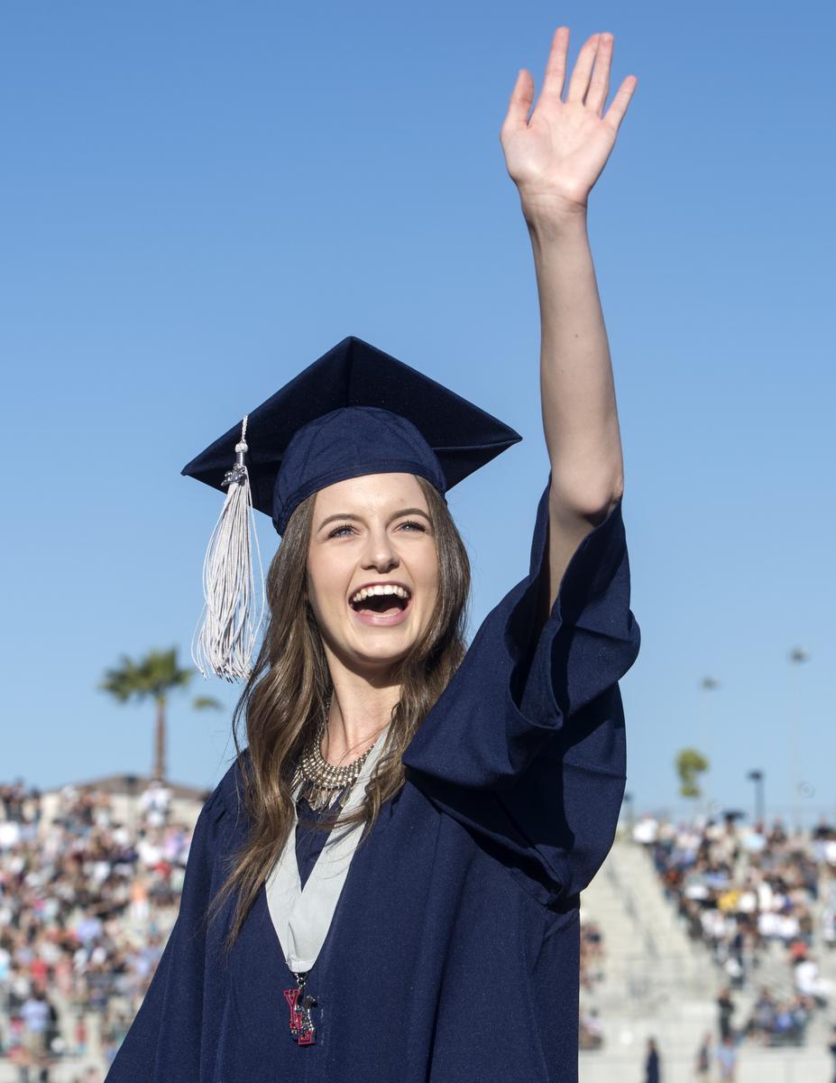 A senior during graduation