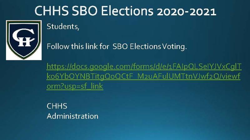 CHHS SBO Elections 2020-2021 Voting