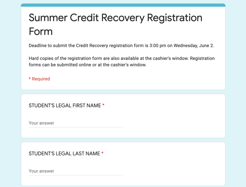 Summer Credit Recovery! Featured Photo