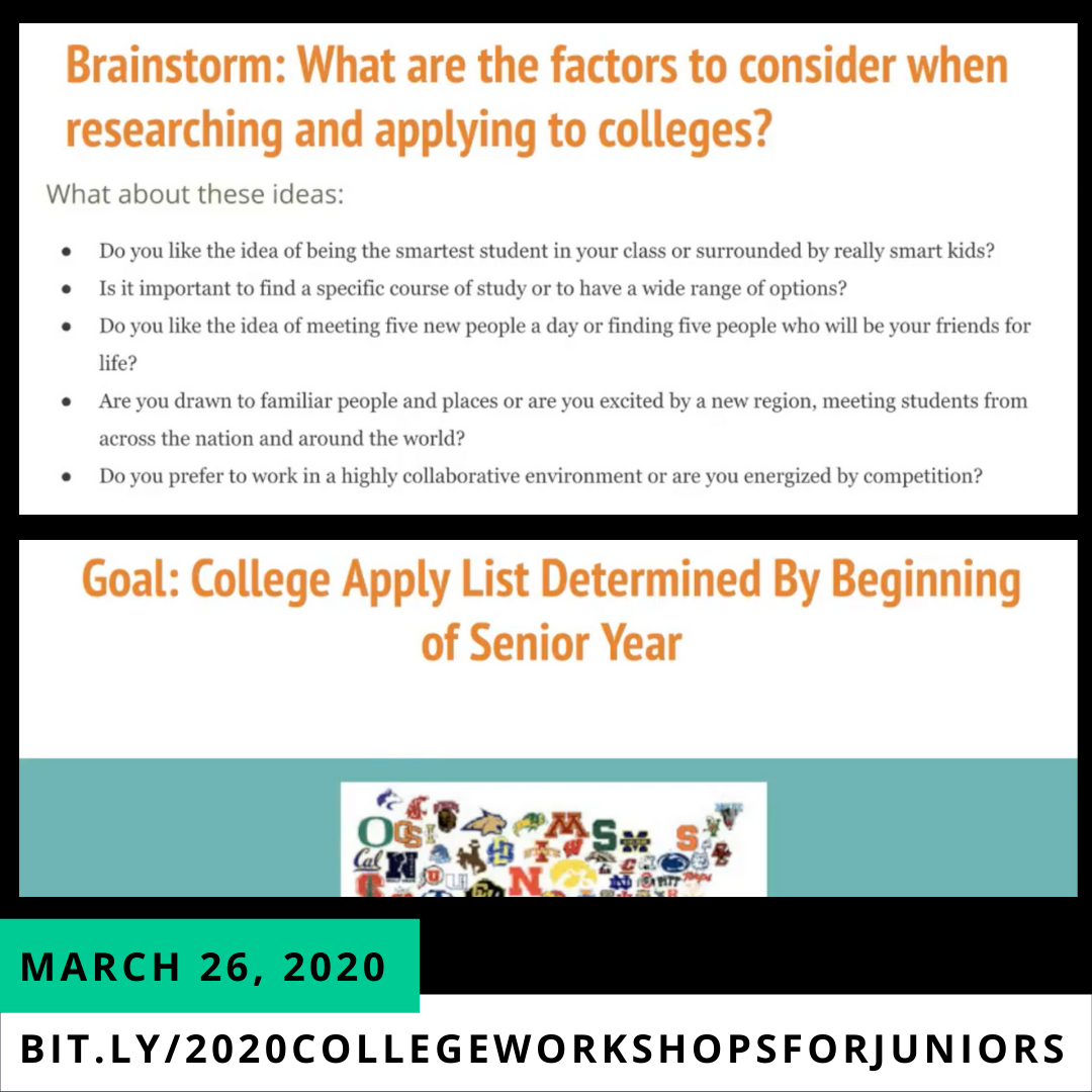 image of march 26, 2020 college workshop for juniors2