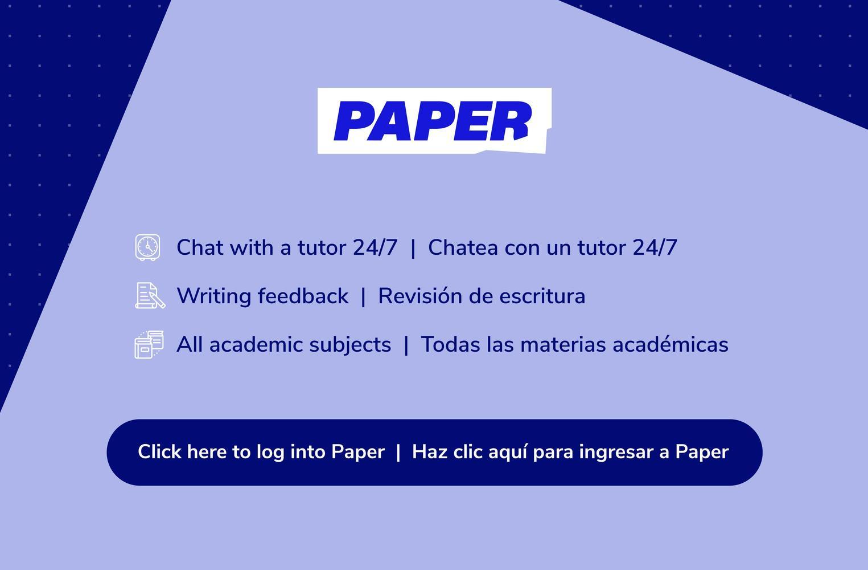 Paper tutoring!